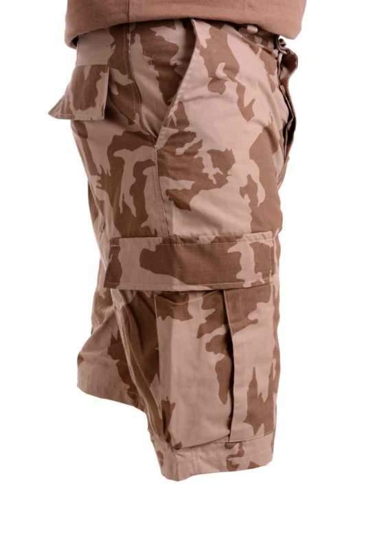 Kraťasy ¾ v maskovacím provedení letní pouštní RIPSTOP hnědé