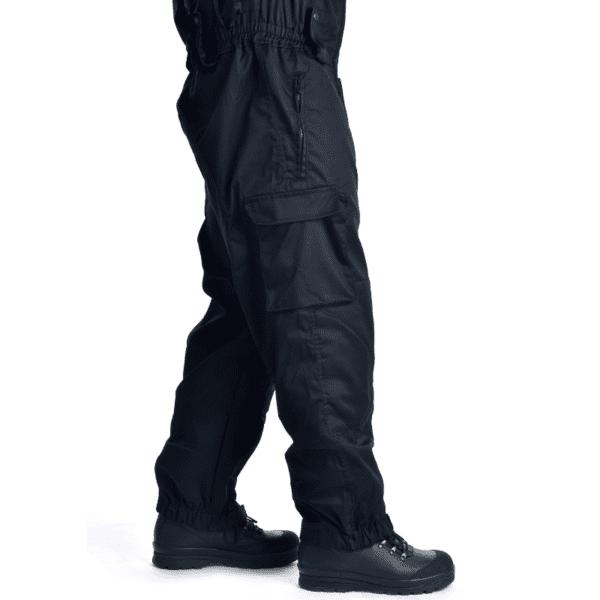 Letní černá policejní pracovní kombinéza