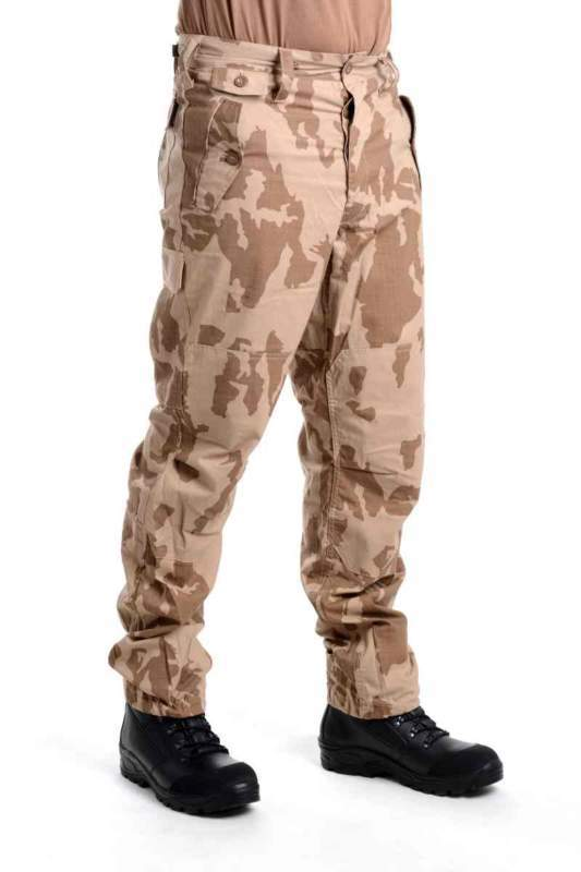 Kalhoty 95 letní s béžovým potiskem (pouštní) RIP-STOP