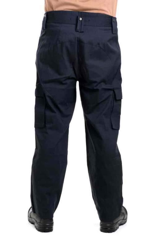 Letní černá dvojdílná policejní kombinéza – kalhoty