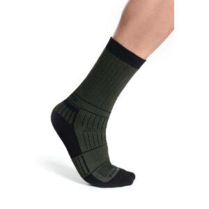 Ponožky termo černo - zelené pro lovce