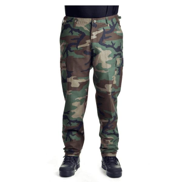 Kalhoty bojové US střih BDU BW WOODLAND MAX FUCHS AG MFH_DSC_5437