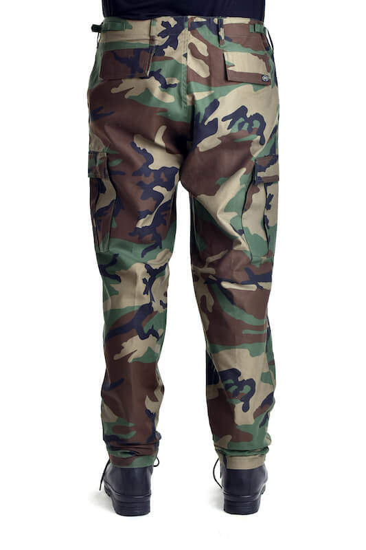 Kalhoty bojové US střih BDU BW WOODLAND MAX FUCHS AG MFH_DSC_5438