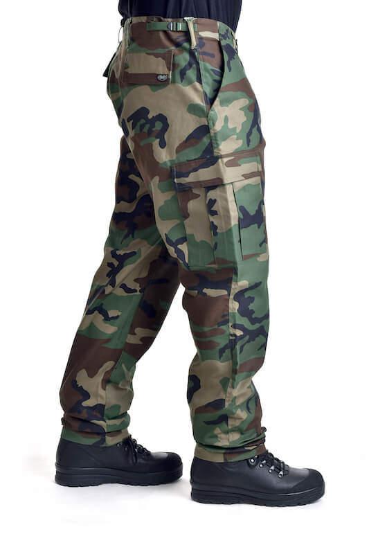Kalhoty bojové US střih BDU BW WOODLAND MAX FUCHS AG MFH_DSC_5439