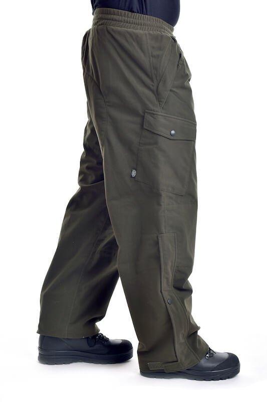 Kalhoty lovecké POLY TRICOT zelené MAX FUCHS_DSC_5454